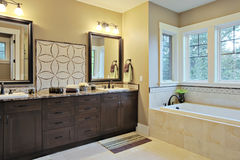 Bathroom. Luxury bathroom with granite countertops and flooring Royalty Free Stock Photography