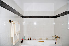 Bathroom. Modern Bathroom with white titles Royalty Free Stock Image