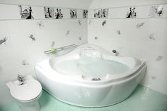 Bathroom. Beautiful modern bathroom. white colour Stock Photos