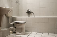 Bathroom. A simple bathroom with closet stock image