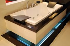 Bathroom. Modern attractive bathroom for relaxation Royalty Free Stock Images