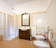 Bathroom. A Bathroom in a modern apartment Stock Photos