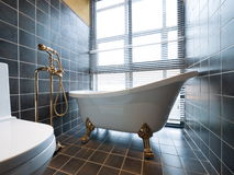Bathroom. Luxury bathroom with beautiful bathtub Stock Photos