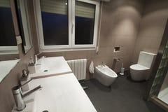 Bathroom. Luxury home bathroom with minimalist decoration stock photos