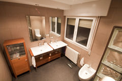 Bathroom. Luxury home bathroom with minimalist decoration stock photography