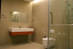 Bathroom. A high-level office building in Beijing Royalty Free Stock Images
