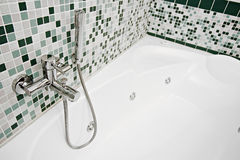 Bathroom. A basin in the bathroom with water Stock Photography