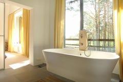 Bathroom. Bright beautiful bathroom in rural house Stock Photography