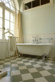 Bathroom. Interior of a beautiful bathroom with big window Stock Photography