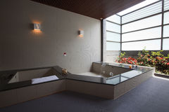 Bathroom. Of the hotel with hot spring and cold spring Stock Photography