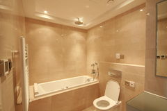 Bathroom. A bathroom of an apartment in Shanghai Royalty Free Stock Photography