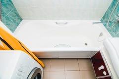 Фото взгляда сверху bathroom стоковые изображения rf