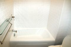 Bathroom. Renovated bathroom in apartment with new plumbing stock photo