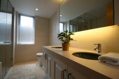 Bathroom. A bathroom of a serviced apartment Stock Photos