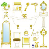 Bathroom. Vector illustration of bathroom and washroom Stock Photography