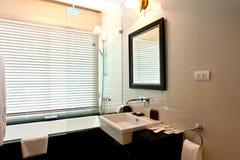 Bathroom. Sink and bath-tub in bathroom Royalty Free Stock Photo