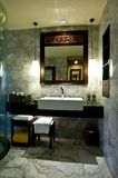 Bathroom. Luxury Bathroom with sink, mirror and lamps Stock Photography