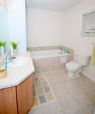 Bathroom. In a modern day home with ceramic tiles Royalty Free Stock Image