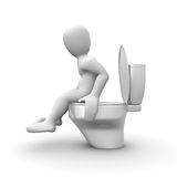 In the bathroom Royalty Free Stock Photography