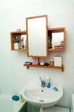 Bathroom. Small bathroom with mirror and basin Stock Images