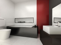 Bathroom. Modern bathroom for residences or hotels Royalty Free Stock Photography