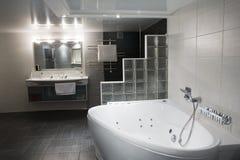 Bathroom. Modern elegance bathroom with  mirror Stock Photos
