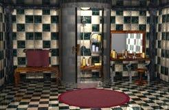 Bathroom. 3d render of a bathroom Stock Images