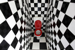 Bathroom. Isolated modern bathroom with black and white tiles Stock Photography