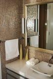 Bathroom. The various appliances in bathroom royalty free stock photos