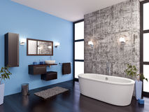 Bathroom. 3d modeling and rendering of a bathroom Stock Images
