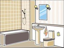 Bathroom. Vector illustration of bathroom beige Stock Images