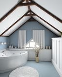 Bathroom. Modern home interior. 3D render. Bathroom. Exclusive design royalty free illustration