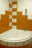 Bathroom. With shower in orange colore Stock Photo