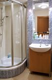 Bathroom. Classic bathroom in the flat stock image