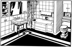 Bathroom 1 Royalty Free Stock Photography