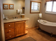 Bathroom. Cozy and warm bathroom with a clawfoot bathtub Stock Photos