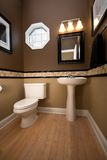 Bathroom. A wideangle vertical image of a nathroom royalty free stock photos