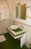 Bathroom. The interior of a hotel bathroom in Italy royalty free stock photography