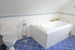 Bathroom. With tiles and bathtub stock photo