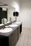 Bathroom. This bathroom is in a department store and has three sinks Royalty Free Stock Photography
