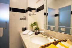 Bathroom. Interior of an elegant bathroom view royalty free stock images