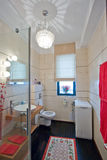 Bathroom. Decorated bathroom in a modern house Stock Images