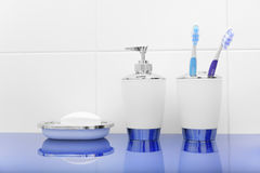 Bathroom accessories. Royalty Free Stock Images