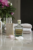 Bathroom accessories and pampering Stock Photo