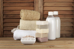 Bathroom accessories Royalty Free Stock Images