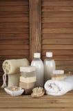 Bathroom accessories Stock Images