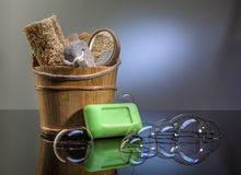 Bathroom accessories Stock Photos