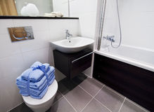 Bathroom with accessory Stock Photography