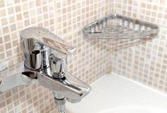Bathroom accessory. With modern interior royalty free stock photos