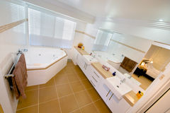 Bathroom adjoining main bedroom stock image